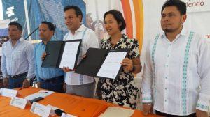 Ratificamos convenio con el INEA en nuestra aula móvil de Palenque